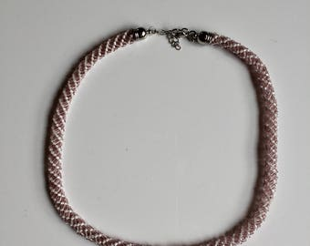 Pink and White Pearl Necklace