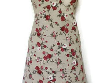 Lady apron Fleur Dames schort stylish - cotton