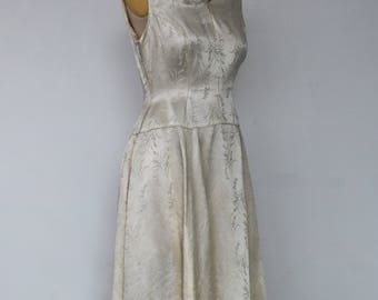 "A Vintage Dress - ""Maureen."" 1950's Vintage Ankle Length Lace Bridal Gown."