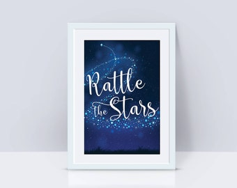 Throne of Glass Print, Rattle the Stars, Digital Print, Sarah J Maas, Wall Decor, Bookish Art