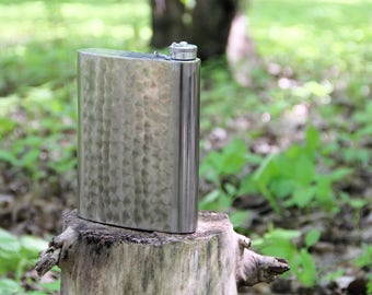 Stainless steel flask Steampunk flask Vintage Flask Whiskey flask Water bottle Tourist flask Soviet Metal flask Camping flask
