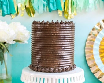 Ribbed Cake- Fake cake, prop cake, party decor