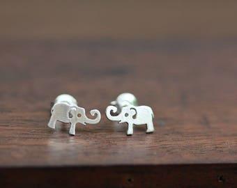 SV baby elephant stud earrings