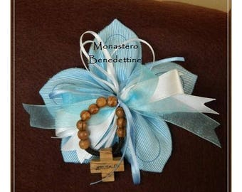 Blue wedding favor with a decade of the Rosary