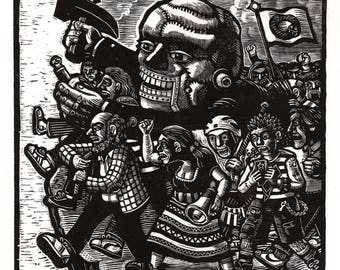 The Politics of Against - Limited Edition Woodcut