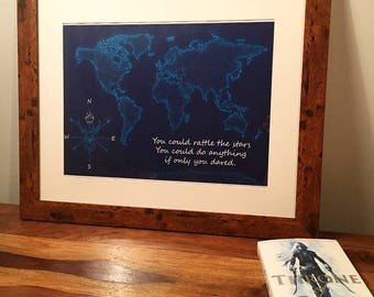 Throne of Glass Inspired Map, World Map, Throne of Glass Wall Art Decor, Throne of Glass A4 Print
