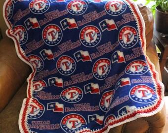 Texas Rangers Baby Blanket