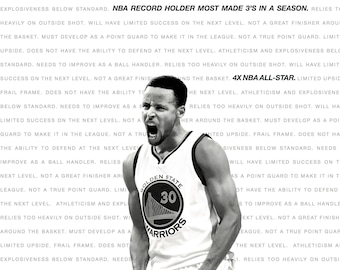 Steph Curry Poster White