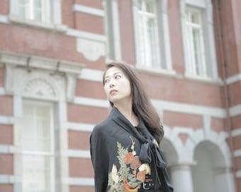 Kimono Blouse (Nightingale in plum)