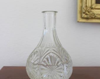 Vintage Cut Glass Vase
