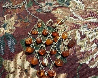 Vintage Baltic Amber and Sterling Silver