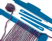 Weaving Loom Kit, Simple loom, Weaving, Learn to Weave, Frosted Turquoise