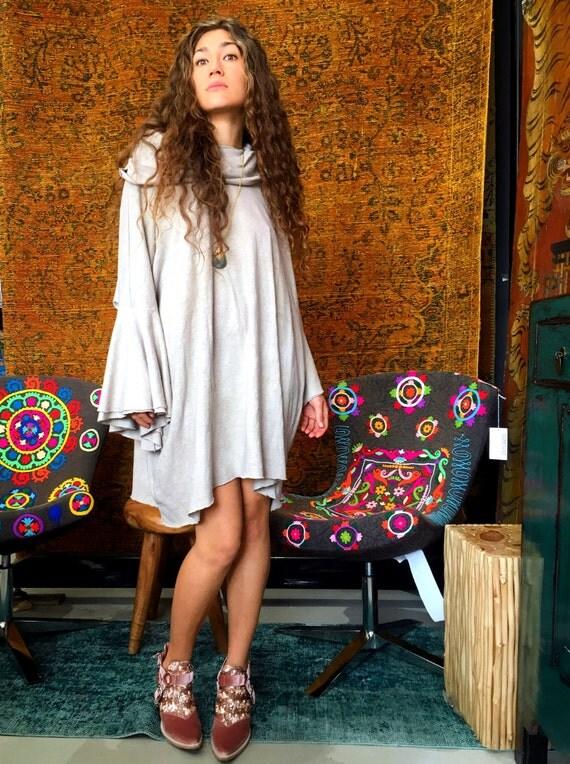 True Love Waits shift dress in organic hemp jersey (mini length). Made to order.