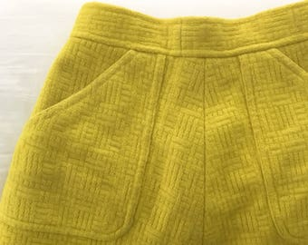 Yellow High Waisted Full Skirt