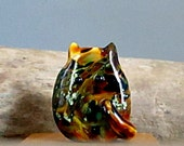 Tortie Cat Bead Handmade Lampwork Focal by teribeads - TeeJay FatCat