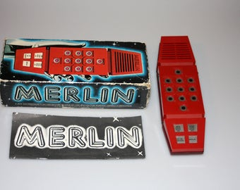 Merlin Electronic Wizard Handheld Electronic Games by Parker Brothers Vintage 1979