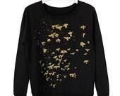 SALE Metallic Birds French Terry Sweatshirt