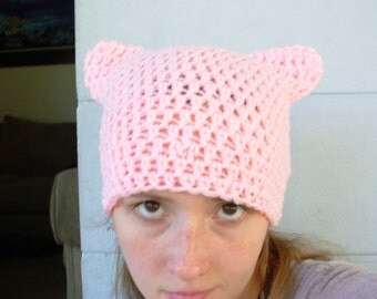 Purrfect Kitty Cat Eared Hat-Petal Pink-Pussy Hat