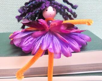 Flower Fairy Kit, makes 2, girl birthday gift, arts & crafts fun, creative kit, Waldorf, DIY, children's kit