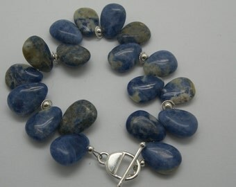 Sodalite and sterling  bracelet