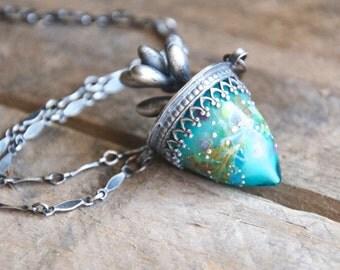 Succulent Drop Pendant / Modern Jewelry