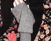 cashmere ~ silk blend fingerless gloves in heather gray arm warmers boho chic teen mori girl texting gloves boho mittens