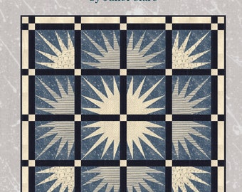 Rise and Shine - Quilt Kit - Create this beautiful quilt evoking the mornign sun using Janet Clare's 'Aubade - a song to the dawn' fabrics