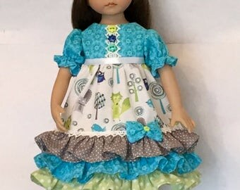 Effner Little Darling Doll Empire Dress With Headband Adorable Forrest Friends By TnTCreations