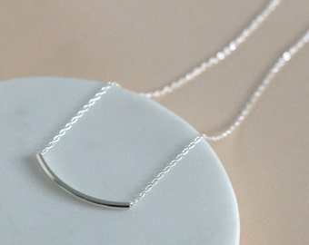 Handmade Bar Necklace - Sterling Silver | modern necklace | simple necklace | layering necklace | birthday gift | bridesmaid gift
