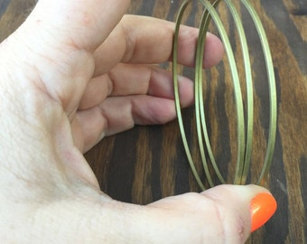 Brass Bangles. Brass Bracelets. Gold Bangles. Gold Bracelets. Vintage Bangles. Stackable Bangles. Stacking Bangles. Vintage Brass Bangles.