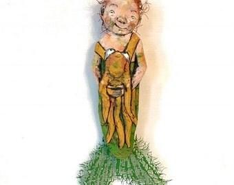 Merdude and Fido - Original Carving ~ Free USA Shipping