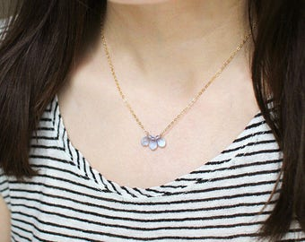 first light - blue and gold necklace