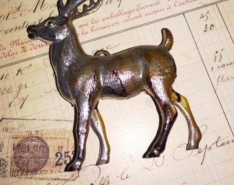 Vintage Silver Christmas Reindeer