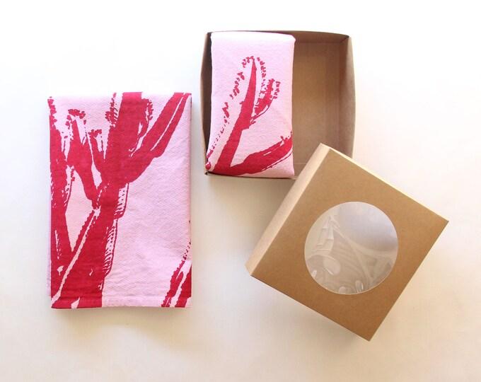 Pink Cactus Cloth Napkin Set