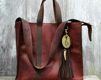 RESERVED for Erin Large Leather Tote - Shoulder Bag in Dark Chestnut by Stacy Leigh
