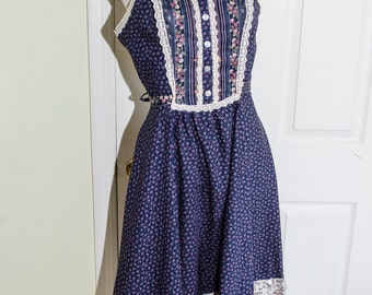 Vintage 1980's Gunne Sax Prairie Style Woman's Sun Dress