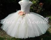 Vintage Blush Dress Ivory...