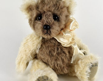 Parker – Handmade Teddy Bear, Artist Bear, Stuffed Animal, Mohair, Toy, OOAK, Made In Alaska