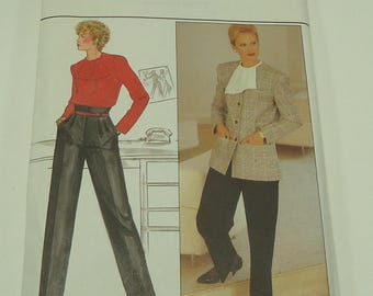 Butterick Misses' Jacket, Blouse & Pants Pattern 4759 Size 8, 10, 12