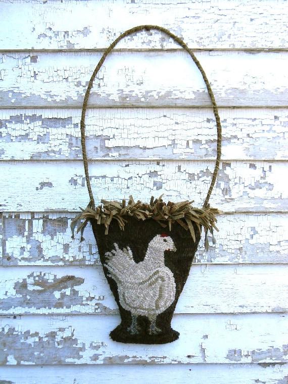 Chicken Basket RUG HOOKING PAPER Pattern - from Notforgotten Farm™