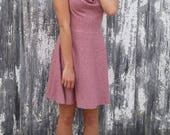 Drape Neck Hemp  Dress - Hemp & Organic Cotton Dress  - Made to Order in the USA