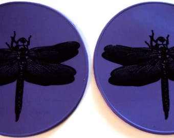 Purple Dragonfly Six Inch Table Coaster Desk Coaster Kitchen Trivet Bottle Opener