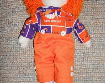 15 inch Clemson Raggedy Andy Doll