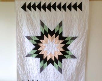Modern Star Quilt | Modern Baby Quilt | Star Quilt | Crib Quilt | Lone Star Quit | Baby Blanket |