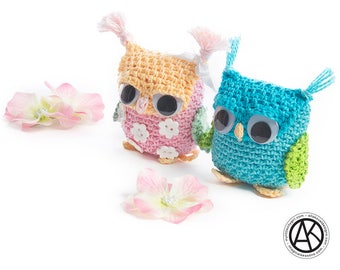 CROCHET PATTERN Sova Amigurumi Keychain, Bag Accessory for Kids and Adult PDF eBook Instant download