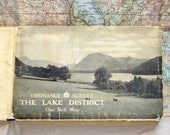 1948 Ordnance Survey Map of the Lake District - Vintage 1 Inch to 1 Mile Map with Photo Cover by Alfred Furness