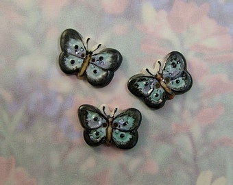 Butterfly Button  set of 3
