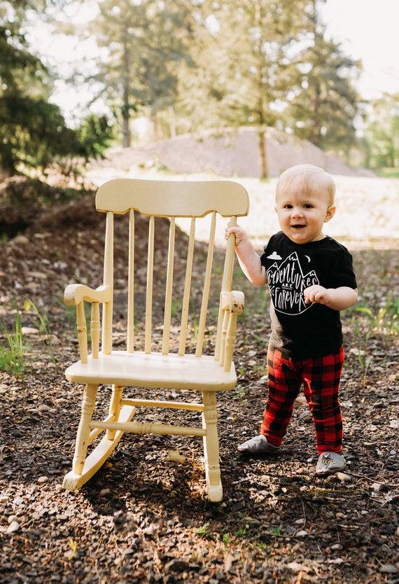 Adventure Boy Baby Shirt Mountain Man Lumberjack Outdoorsman Forest Cabin Life Roadtrip Hiking Camping Tee Shirt 6MO 12MO 18MO 24MO