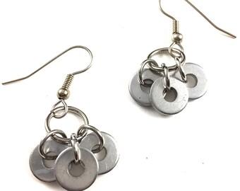 Geometric Dangle Earrings Hardware Jewelry