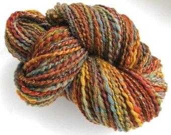 Handspun Yarn Soft BFL WoolYarn Hand Dyed Yarn Bulky Yarn Art Yarn 174 yards - Rio Grande Valley